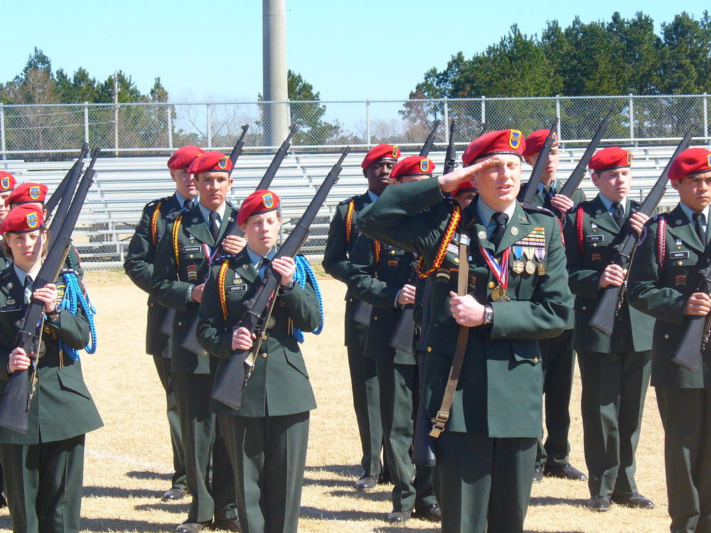 Career Pathways JROTC Drill Team at S.E. Bulloch High