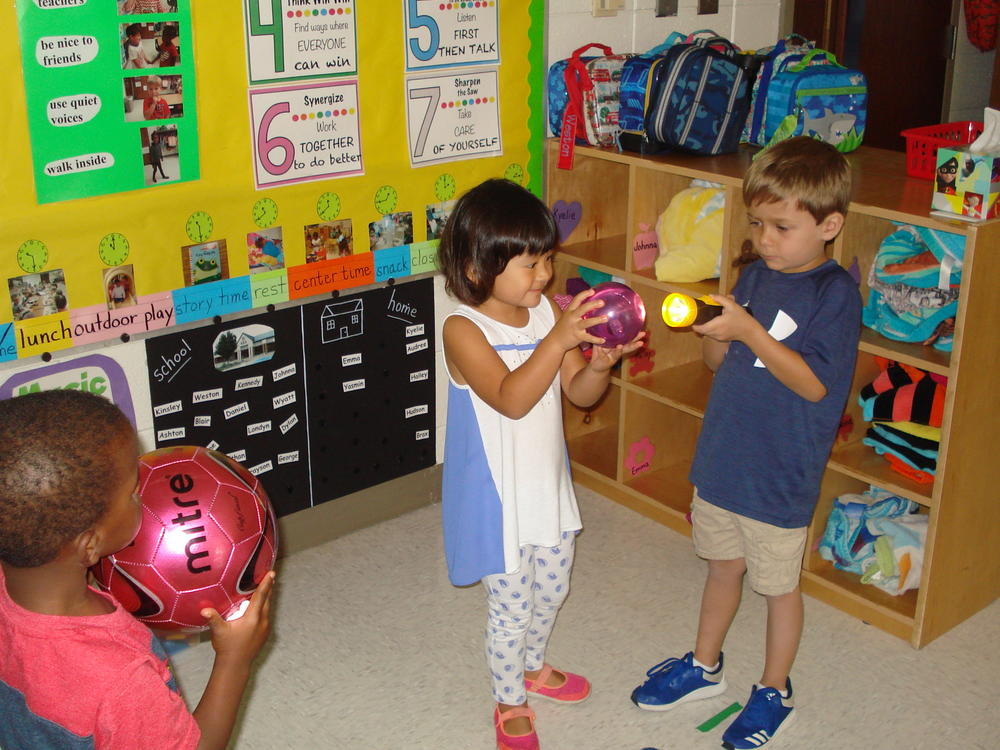 Pre-K students learn about solar eclipses