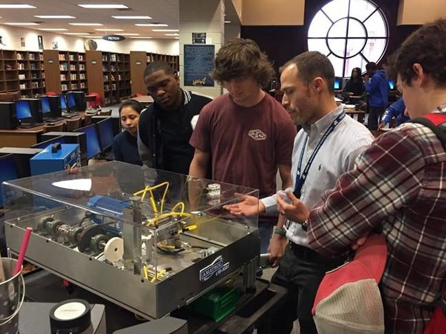 Ogeechee Technical College instructor with Statesboro High students