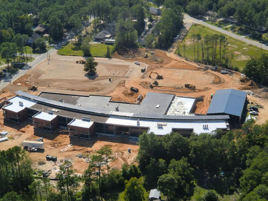Aerial View of Mattie Lively Elementary Construction