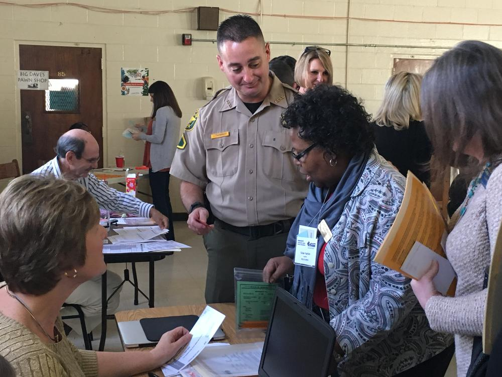 Academic Support Administrators faculty participate in a poverty simulation