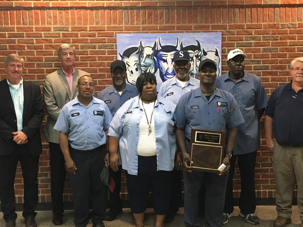 Custodians honored with Clean School Award