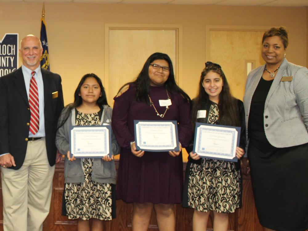 2017 REACH GA Scholars with Foundation and Board of Education Representatives
