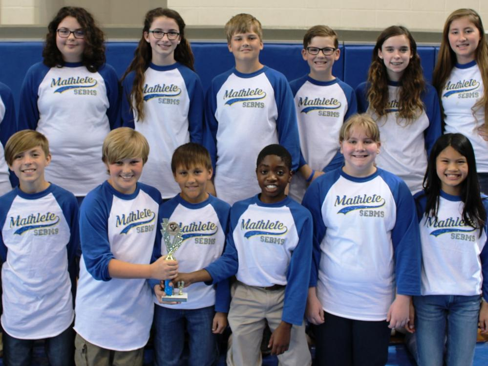 2016 Sixth-Grade Ciphering 2nd Place Team - Southeast Bulloch Middle School