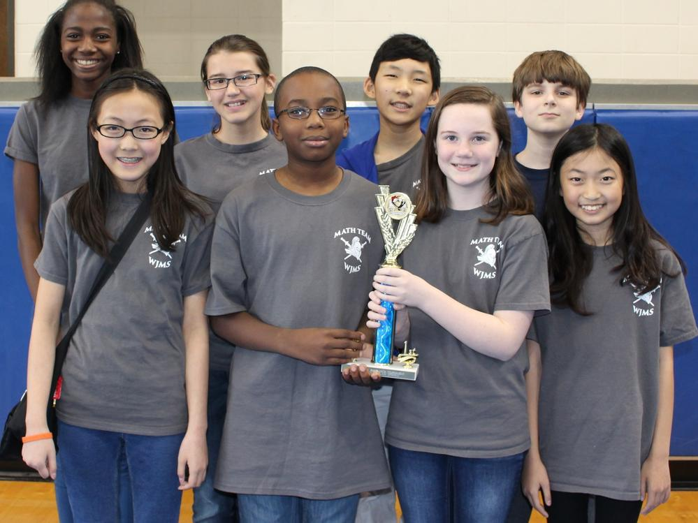 2016 Sixth-Grade Ciphering - First Place Team William James Middle School