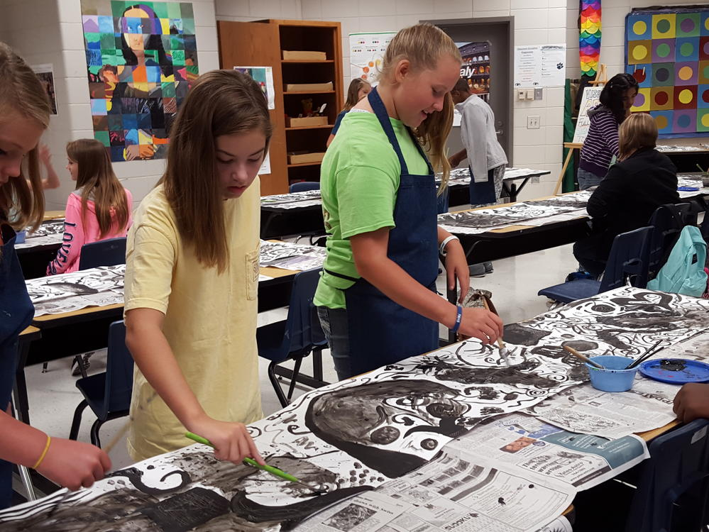 Art Students at Portal Middle High School