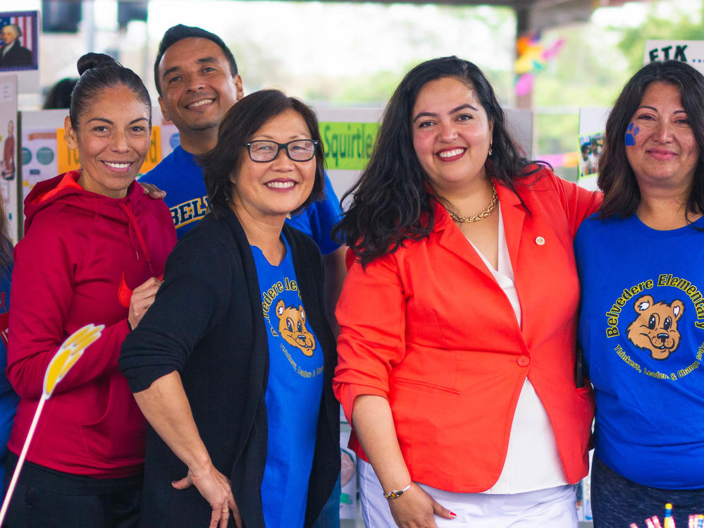 Assembly Woman Wendy Carrillo at the Belvedere Elementary Booth