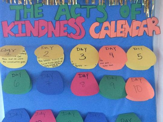 6th. Grade s Acts of Kindness Calendar