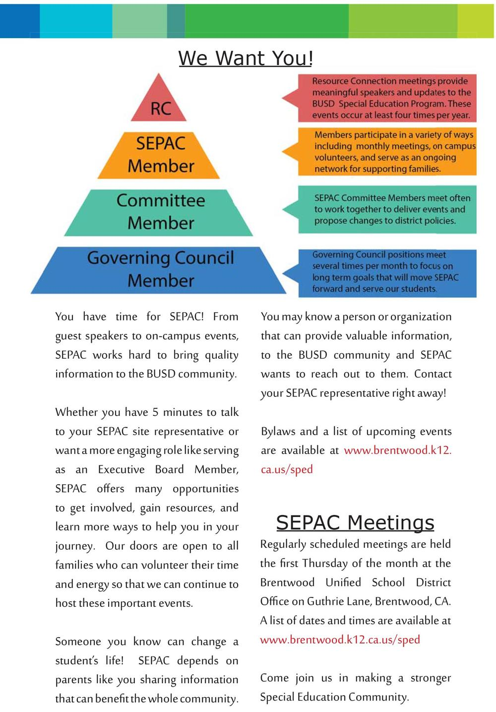 SEPAC Welcome Packet