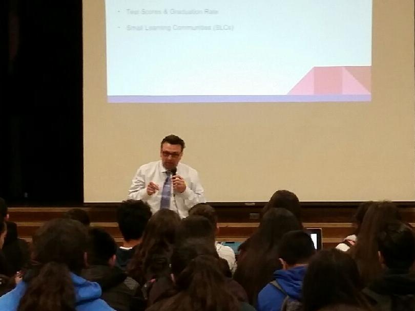 In collaboration with local high schools, Brooklyn 8th grade students are  provided information about their options for High School and the many programs  that are offered.