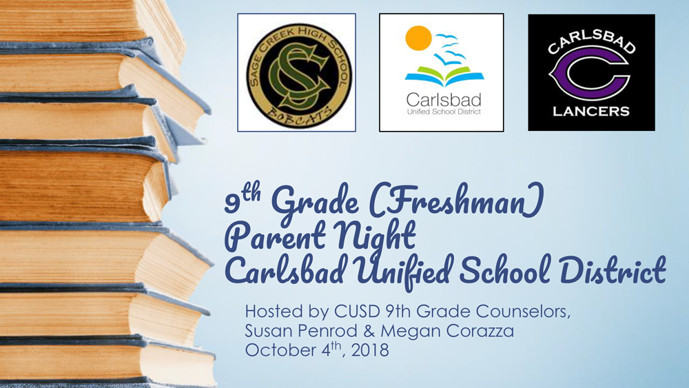 2018 9th grade parent night
