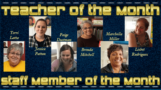 Teacher and Staff Member of the Month