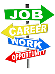 arrows pointing to job, carreer, work, opportunity