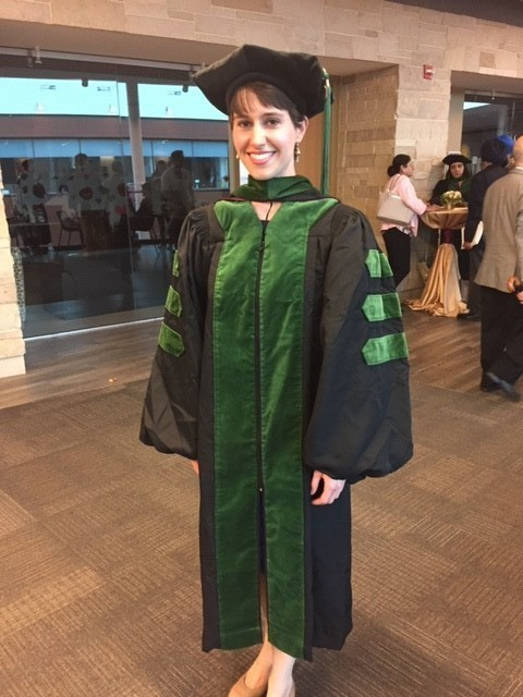 Ingrid Kiehl is an alumni of CWCS wearing cap and gown