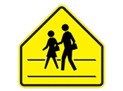 street crossing icon