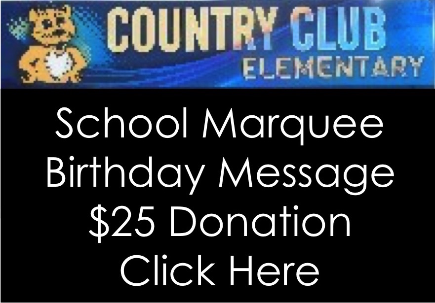 School Marquee Birthday Message  25