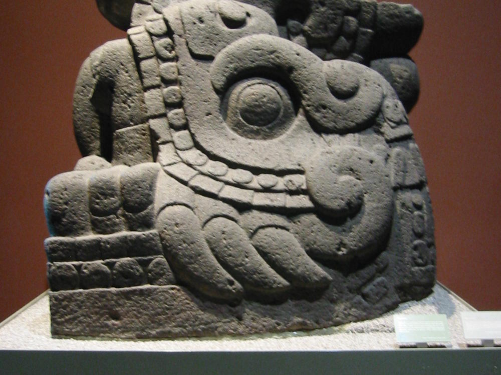 one of the aztec gods at the museum of anthropology in Mexico City