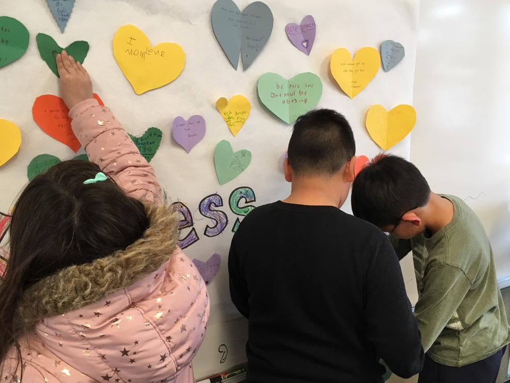 Great Kindness Challenge, Kindness Wall Slideshow writing messages.