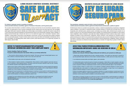 Safe Place to Learn Act