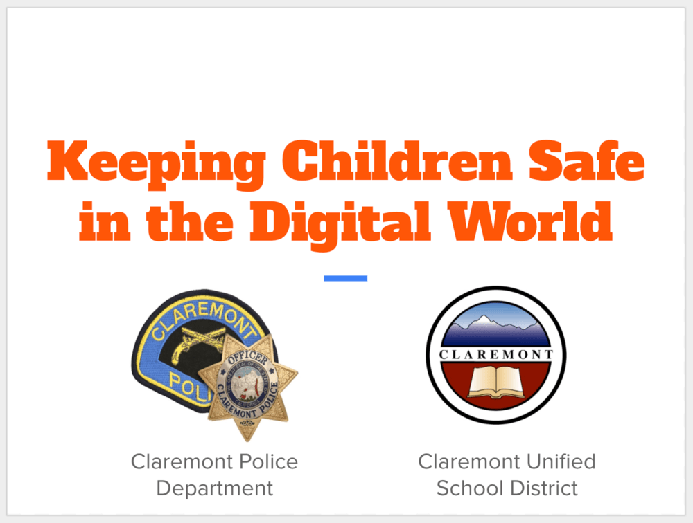 Keeping Children Safe in the Digital World