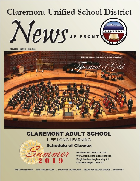 Claremont Adult School Summer 2019 Brochure