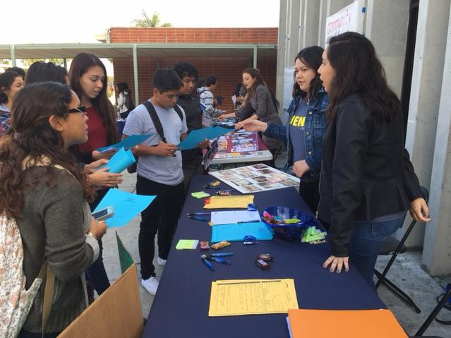 Students learning about Golden West s Puente Program
