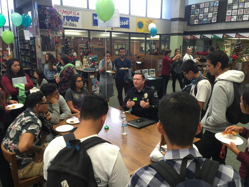 Students participating in Lunch and Learn City Government Edition
