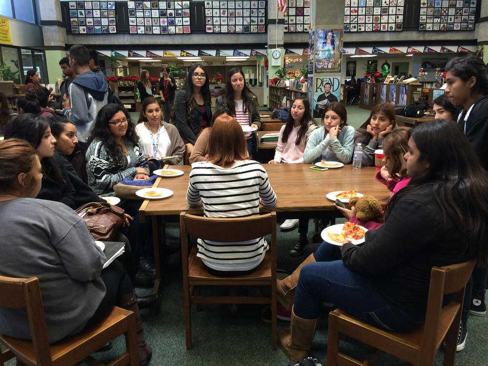 Students particpating in Lunch and Learn Healthcare Edition