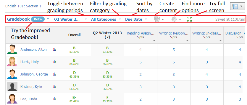 Gradebook Improved