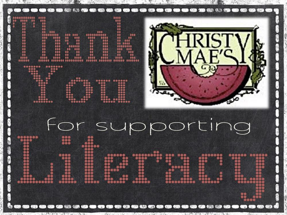 Christie Maes thank you for supporting literacy