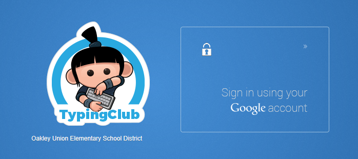 Sign in to Typing Club