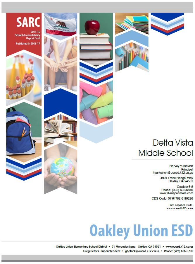 Delta Vista Middle School school accountability report card