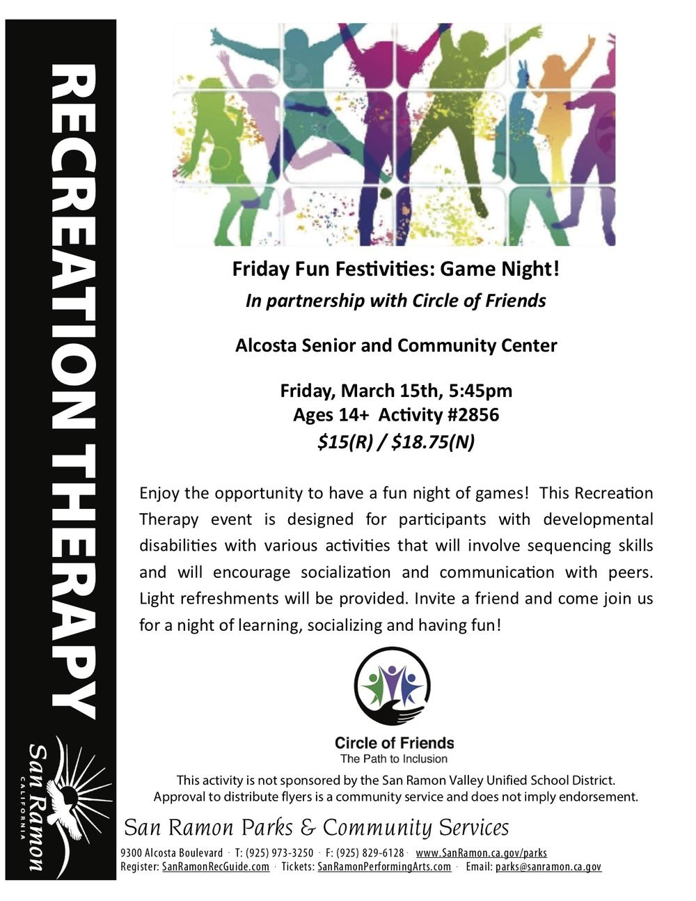 Recreation Therapy Flyer