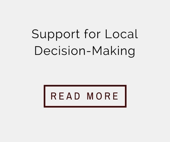 Support for Local Decision-Making with Read More Hyperlink
