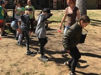 Team building activity with 5th grade Astro Camp students.