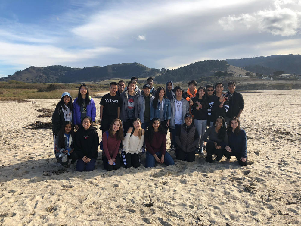 EV s APES class collecting data at Carmel River State Beach