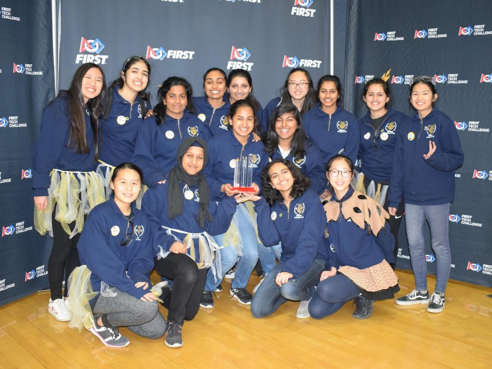 EV s all-girl Athena Robotics Team went to the NorCal FTC Robotics tournament and won the Motivate Award.