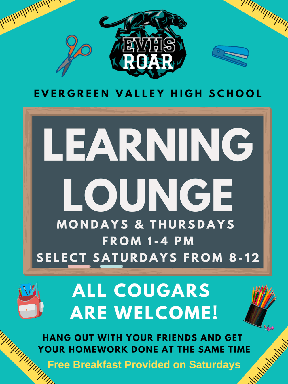 learning lounge flyer
