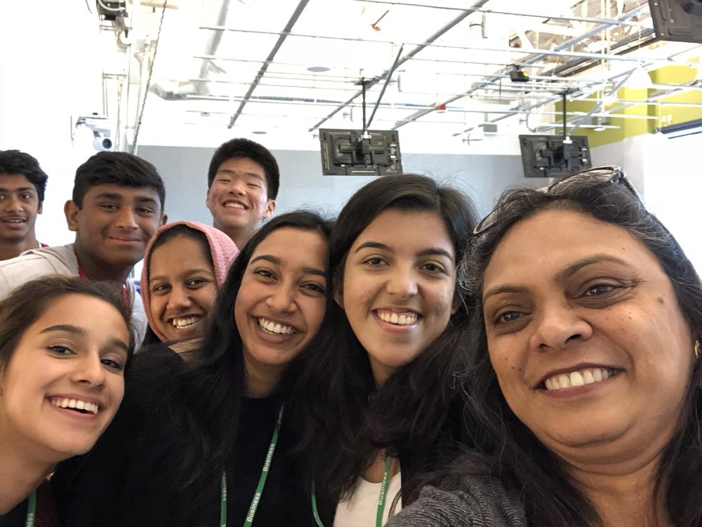Computer Science Class w  Ms. Bhatnagar visiting the Facebook Campus