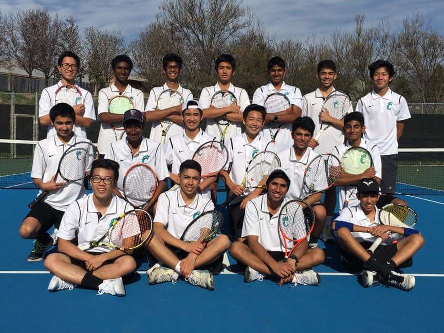 picture of 2017 boys tennis team. BVAL championships 2016-2017 and three times  in the last four years