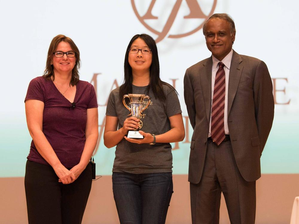 Jocelin Su, a junior, placed 7th in the 9th annual Math Prize for Girls which  took place at Massachusetts Institute of Technology on September 24, 2017. From  across the US and Canada, 266 girls participated in the math contest. Jocelin  was awarded a medal, trophy and 1000 cash. Last year, she also won a bronze  medal in the same contest.