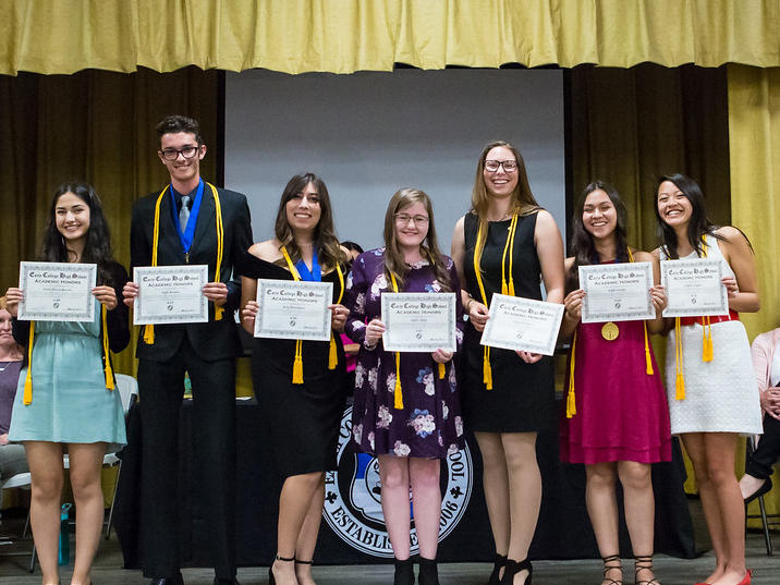English Students of the Year with Mrs. Lawrence