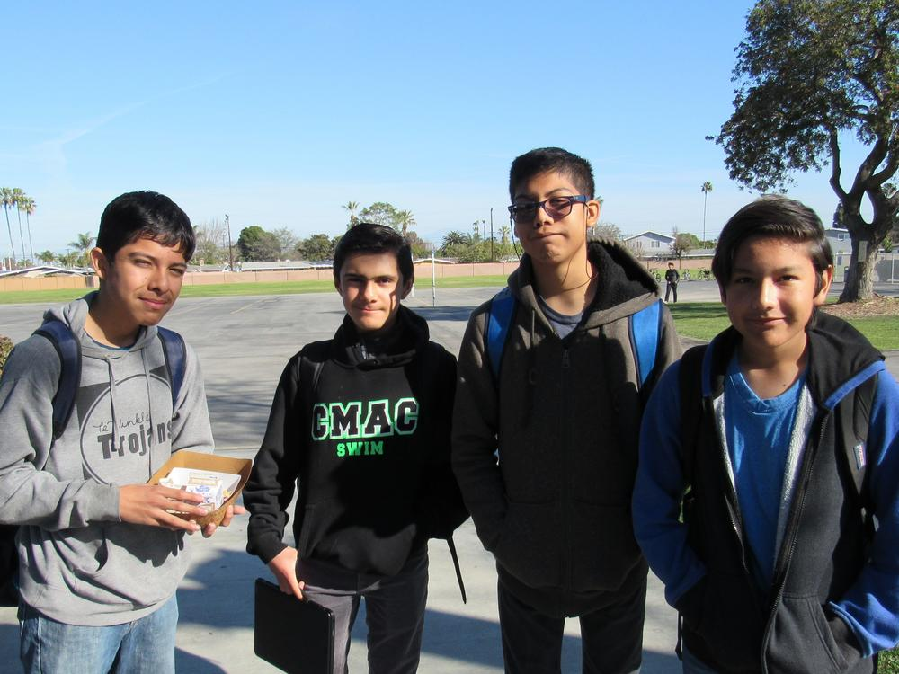Four Male Students Posing for Picture