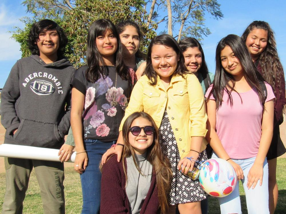 Seven Students Posing for a Picture