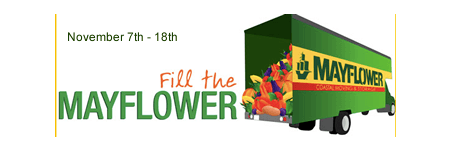 Fill the Mayflower Food Drive November 7th - 18th