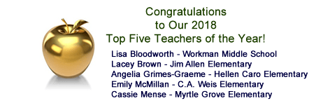 Congratulations to Our Top Five Teachers of the Year!
