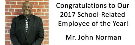 Mr John Norman 2017 School - Related Employee of the Year!