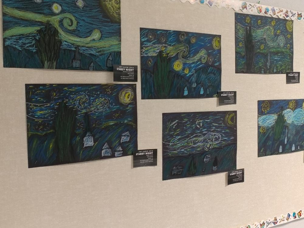 Student Artwork on Display at Open House