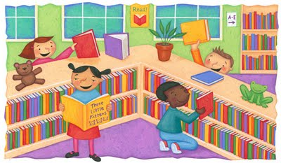 Childrens Room Library Clip Art