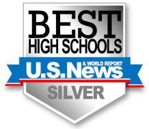 Estancia High School was ranked as a  Silver  school by U.S. News   Work Report